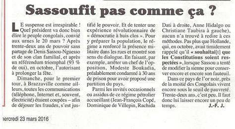 Article du Canard Enchaine dénonçant l'arrestation arbitraire de Modeste Boukadia et des Membres du Cercle des Democrates et Republicains du Congo