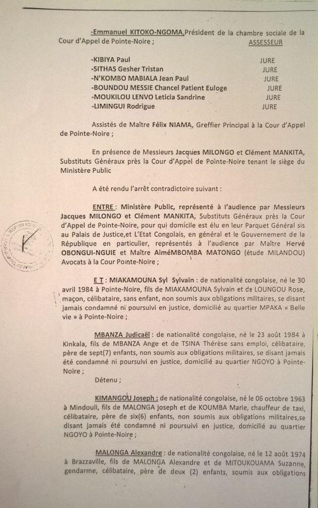 1. Arret 7 Avril 2014 - emprisonnement CDRC