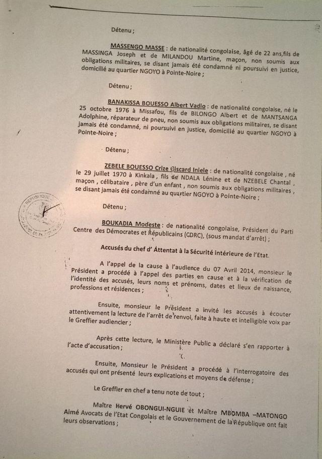 6. Arret 7 Avril 2014 - emprisonnement CDRC