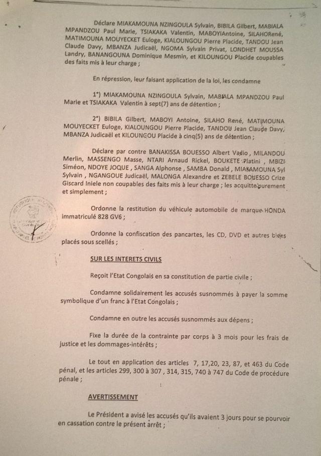 10. Arret 7 Avril 2014 - emprisonnement CDRC