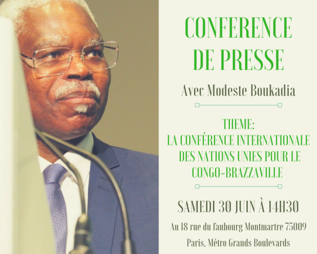 Conference de presse - Boukadia - Conference Internationale des Nations Unies Pour le Congo Brazzaville - 3